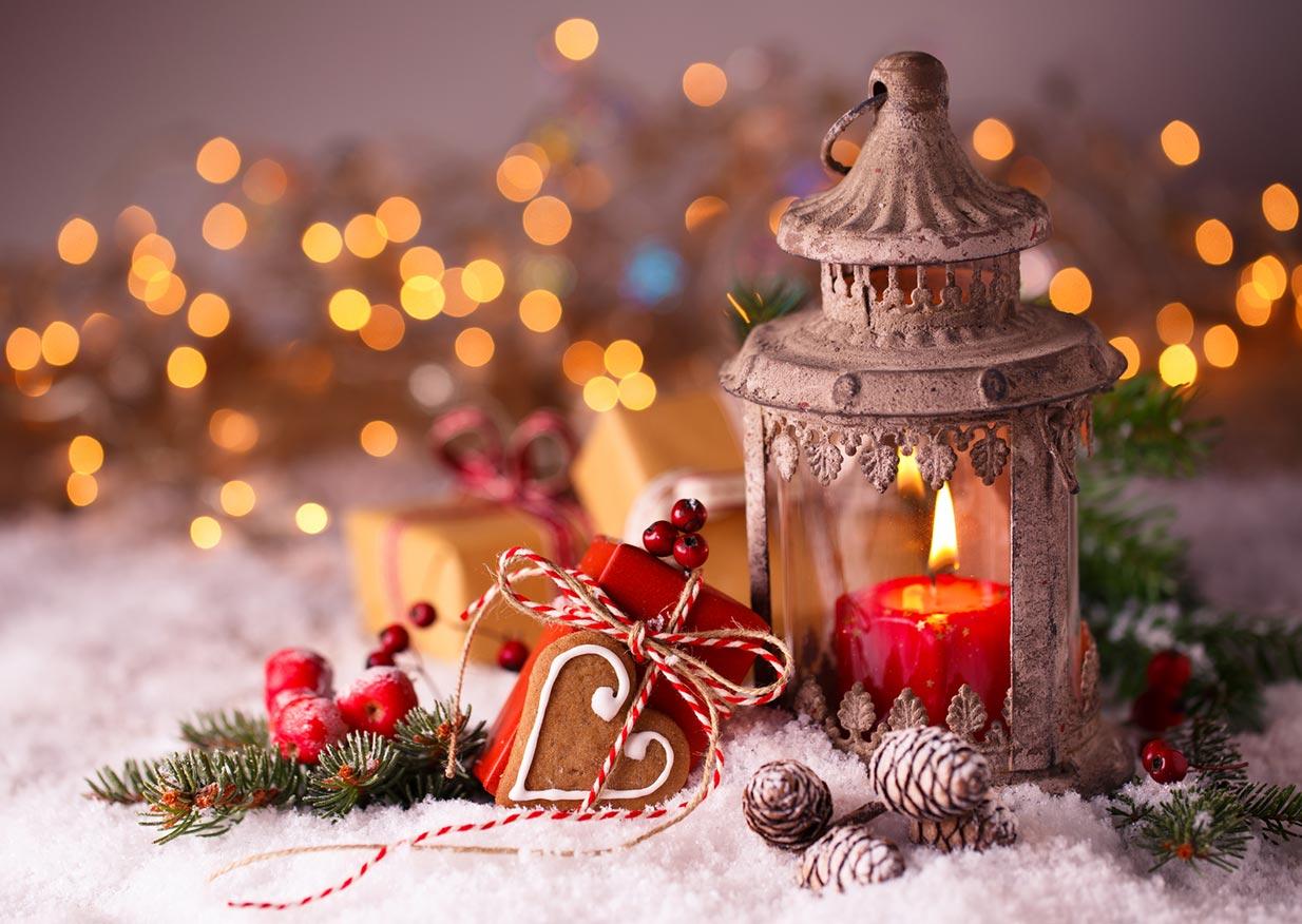 Advent – Laterne und Schnee