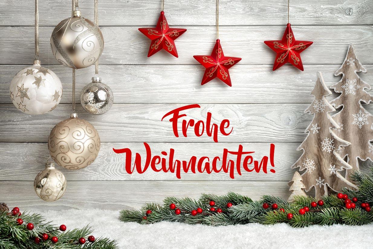 Frohe Weihnachten – Hintergrund in hellem Holz