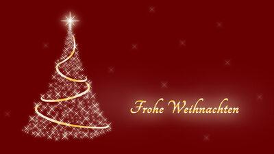 Frohe Weihnachten mit Weihnachtsbaum