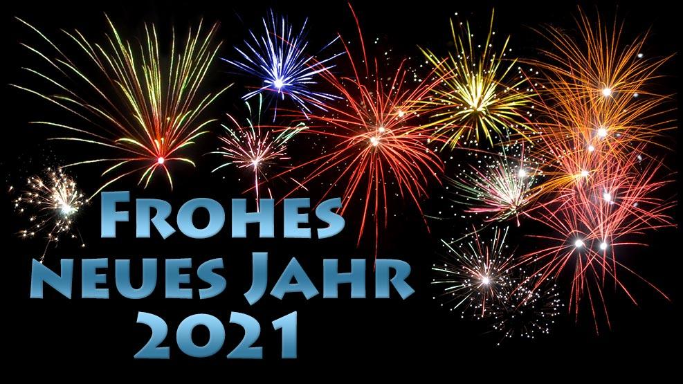 Frohes neues Jahr 2021 (stahl)