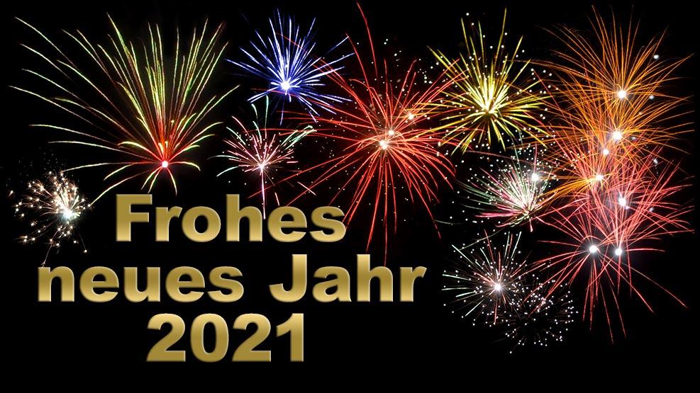 Frohes neues Jahr 2021 (gold)