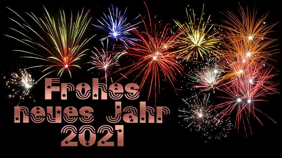 Frohes neues Jahr 2021 (kupfer)