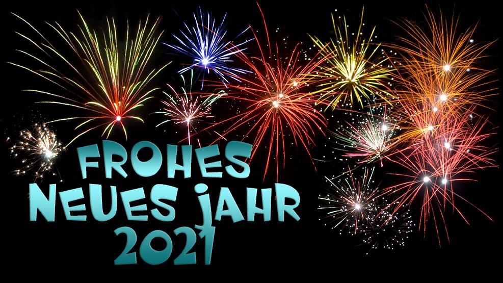 Frohes neues Jahr 2021 (türkis)