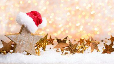 Weihnachten und Neujahr Gold Thema Hintergrund
