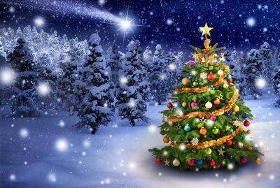 Weihnachten mit Weihnachtsbaum