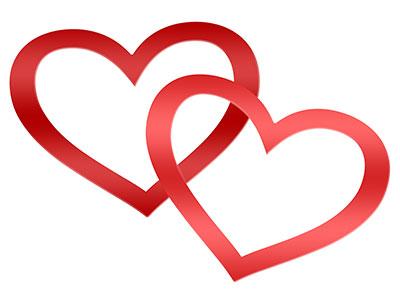 💗 Zwei Herzen als Symbol der Liebe 💕