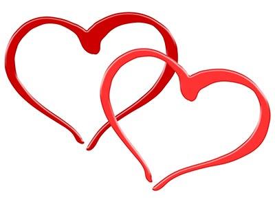 💗 Zwei Herzen als Symbol der Zweisamkeit 💕